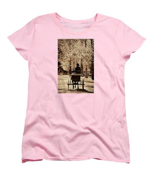 Women's T-Shirt (Standard Cut) featuring the photograph Buggy Ride by Joan Davis