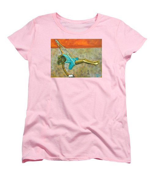 Women's T-Shirt (Standard Cut) featuring the painting Canyon Road Sculpture by Keith Thue