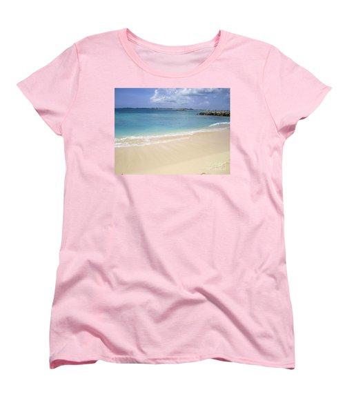Women's T-Shirt (Standard Cut) featuring the photograph Caribbean Beach Front by Fiona Kennard