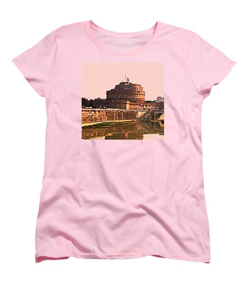 Women's T-Shirt (Standard Cut) featuring the photograph Castel Sant 'angelo by Brian Reaves