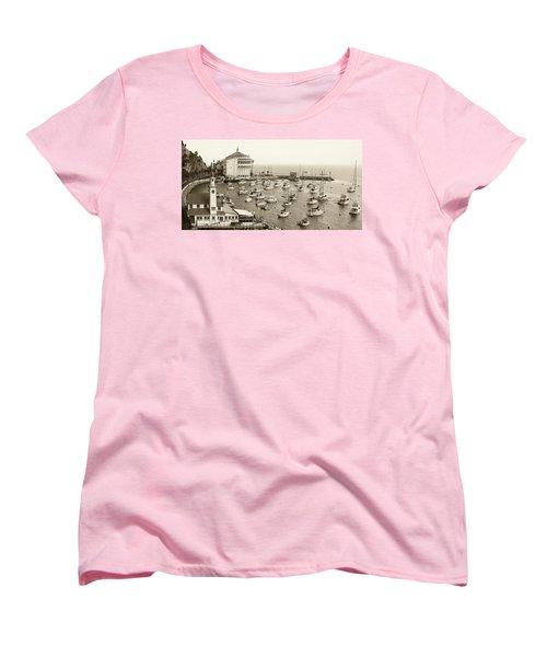 Catalina Island. Avalon Women's T-Shirt (Standard Cut) by Ben and Raisa Gertsberg