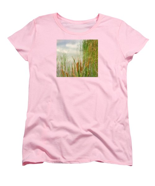 Women's T-Shirt (Standard Cut) featuring the photograph Cattails by Marilyn Diaz