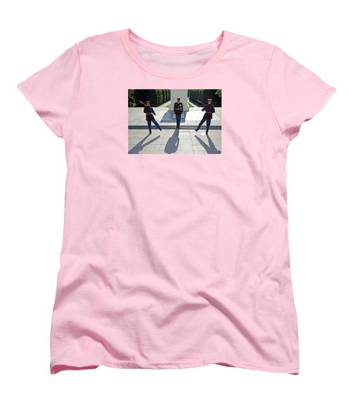Women's T-Shirt (Standard Cut) featuring the photograph Changing Of The Guard by Cora Wandel