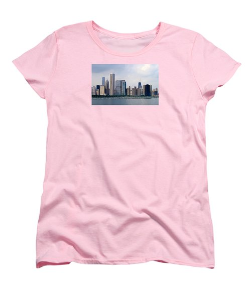 Women's T-Shirt (Standard Cut) featuring the photograph Chicago Panorama by Milena Ilieva