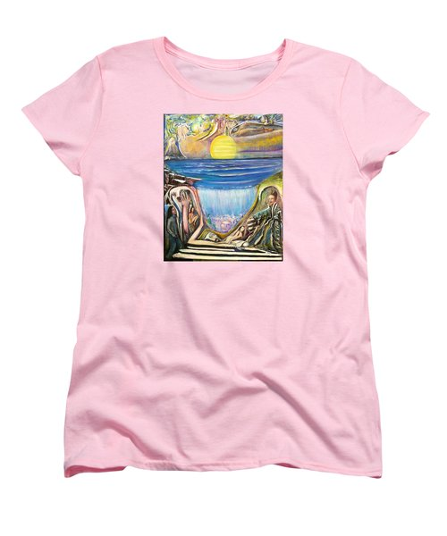 Women's T-Shirt (Standard Cut) featuring the painting Children Of The Sun by Kicking Bear  Productions