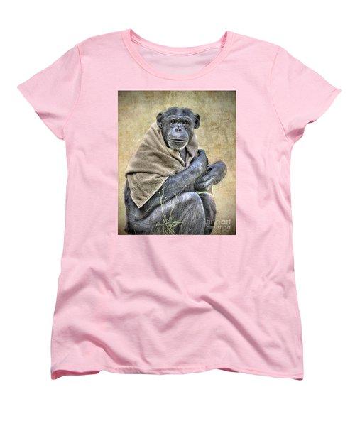 Women's T-Shirt (Standard Cut) featuring the photograph Chimpanzee by Savannah Gibbs