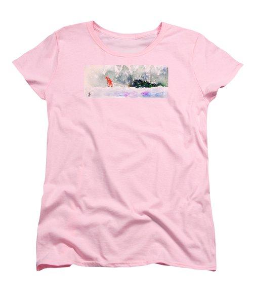 Christmas Is Coming Women's T-Shirt (Standard Cut) by Yoshiko Mishina