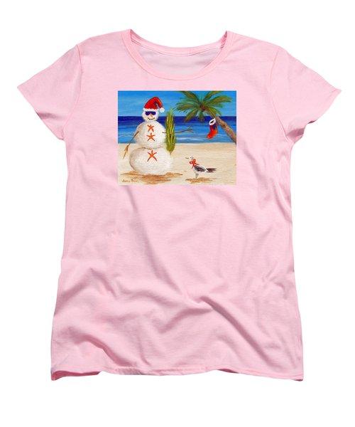 Christmas Sandman Women's T-Shirt (Standard Cut) by Jamie Frier