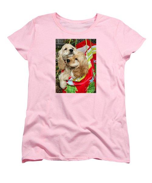 Women's T-Shirt (Standard Cut) featuring the photograph Christmas Shopping by Sami Martin