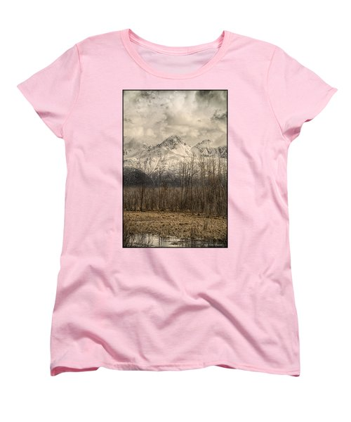 Chugach Mountains In Storm Women's T-Shirt (Standard Cut)
