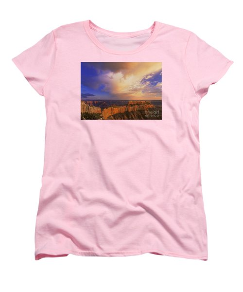 Clearing Storm Cape Royal North Rim Grand Canyon Np Arizona Women's T-Shirt (Standard Cut) by Dave Welling