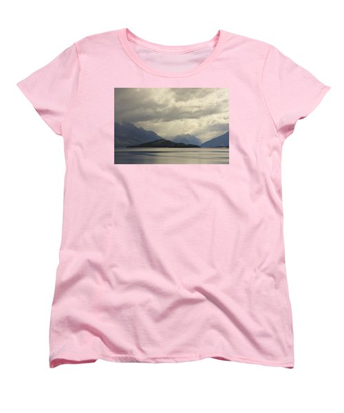Women's T-Shirt (Standard Cut) featuring the photograph Clouds Over Wakatipu #2 by Stuart Litoff