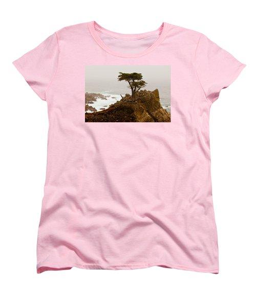 Coastline Cypress Women's T-Shirt (Standard Cut) by Melinda Ledsome