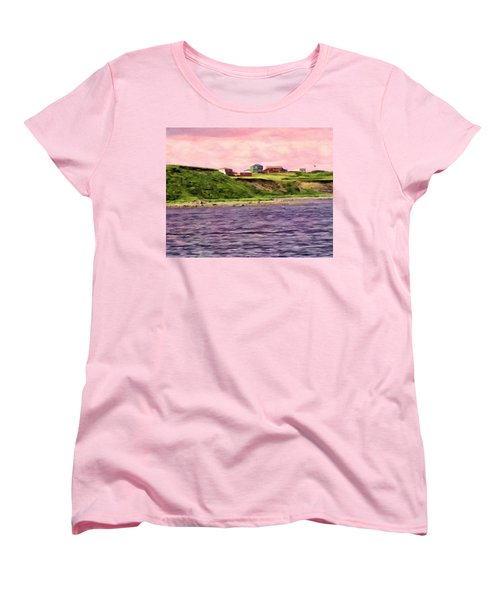 Cold Bay From The Dock Women's T-Shirt (Standard Cut) by Michael Pickett