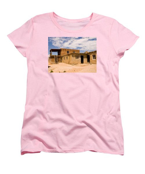 Acoma Pueblo Home Women's T-Shirt (Standard Cut) by James Gay