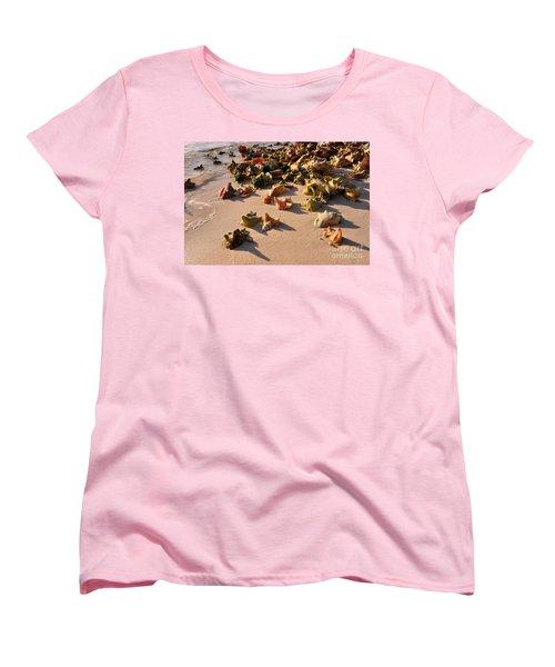 Conch Collection Women's T-Shirt (Standard Cut) by Jola Martysz
