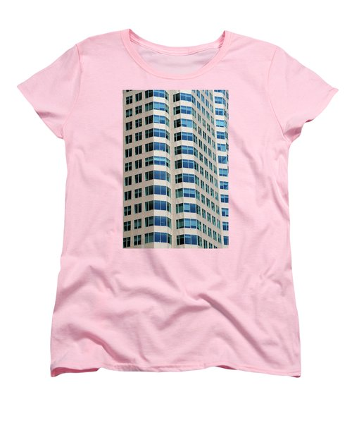 Concrete And Blue Glass Women's T-Shirt (Standard Cut) by Valentino Visentini