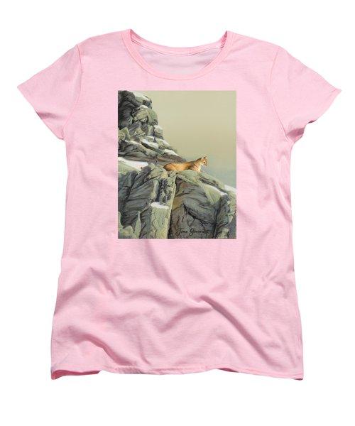 Cougar Perch Women's T-Shirt (Standard Cut)