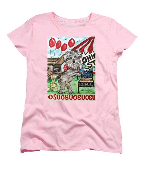 Osu Tailgating Dog Women's T-Shirt (Standard Cut)