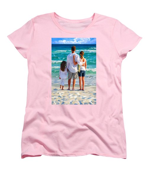 Dad And His Girls Women's T-Shirt (Standard Cut)