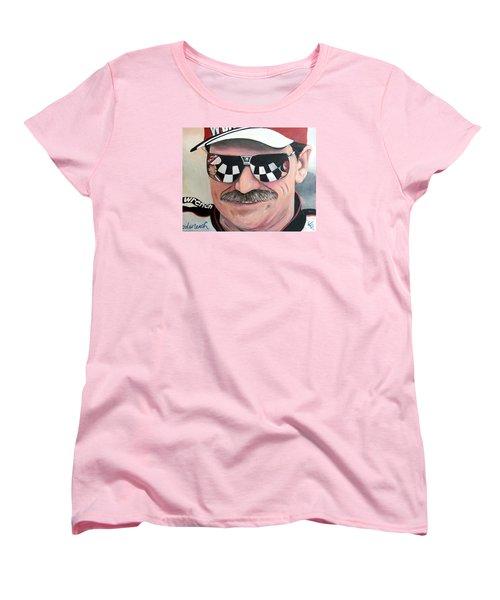 Dale Earnhardt Sr Women's T-Shirt (Standard Cut) by Tom Carlton