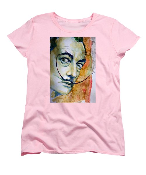 Women's T-Shirt (Standard Cut) featuring the painting Dali by Laur Iduc