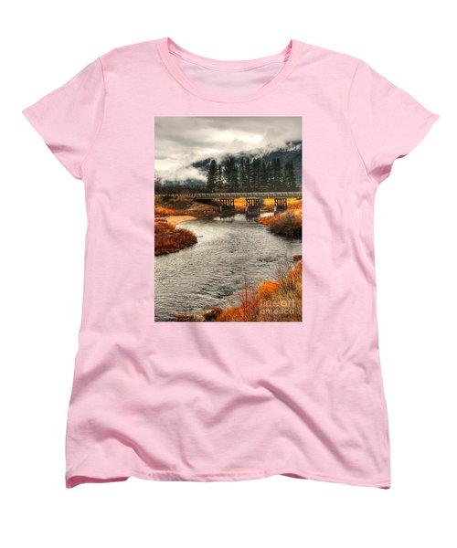 Women's T-Shirt (Standard Cut) featuring the photograph Daveys Bridge by Sam Rosen