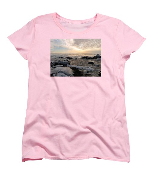 Dazzling Winter On Lake Superior Women's T-Shirt (Standard Cut) by James Peterson