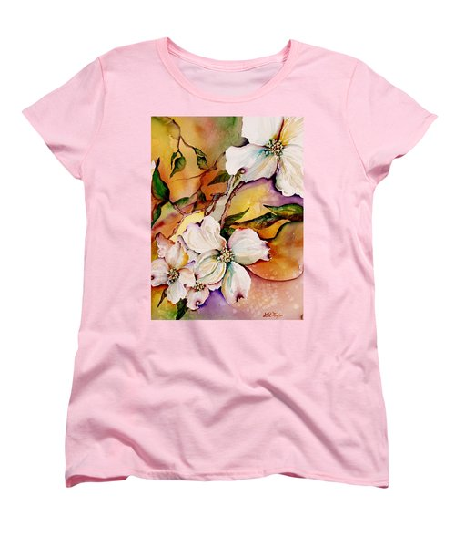 Dogwood In Spring Colors Women's T-Shirt (Standard Cut) by Lil Taylor