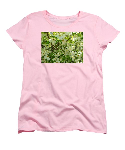 Women's T-Shirt (Standard Cut) featuring the photograph Dogwood Kissed By The Sun by Becky Lupe