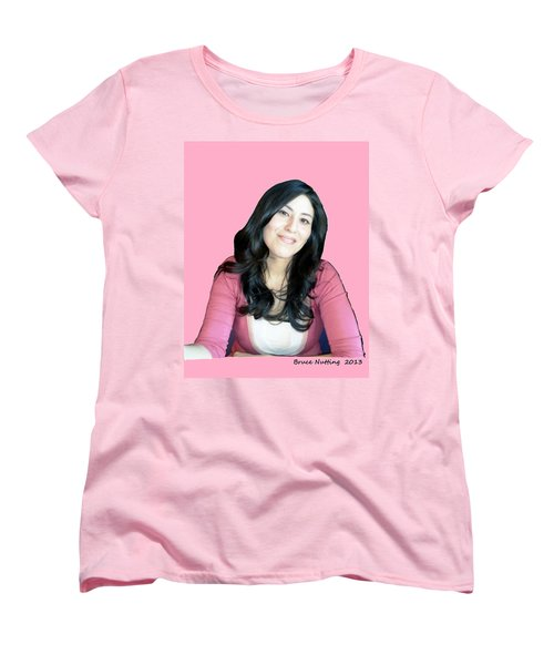 Donna In Pink Women's T-Shirt (Standard Cut) by Bruce Nutting