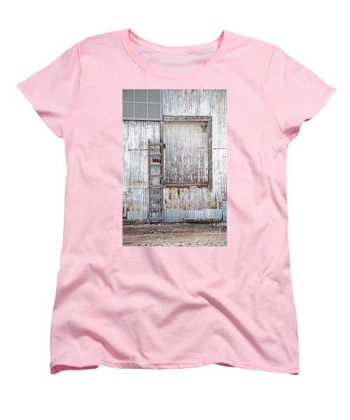 Women's T-Shirt (Standard Cut) featuring the photograph Door 1 by Minnie Lippiatt