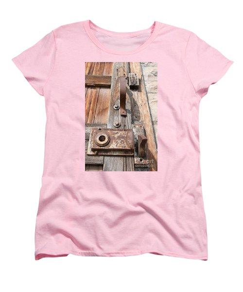 Women's T-Shirt (Standard Cut) featuring the photograph Door Knob by Minnie Lippiatt