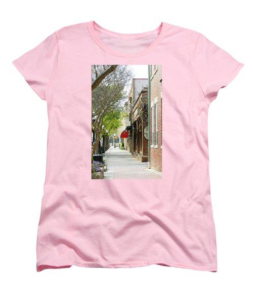 Downtown Aiken South Carolina Women's T-Shirt (Standard Cut) by Andrea Anderegg