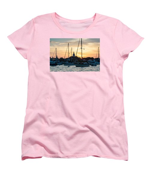 Women's T-Shirt (Standard Cut) featuring the photograph Downtown Glow by Jennifer Casey