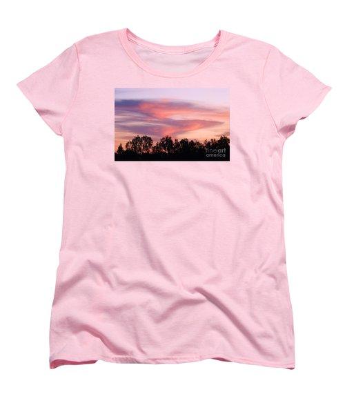 Women's T-Shirt (Standard Cut) featuring the photograph Dragon Clouds by Meghan at FireBonnet Art