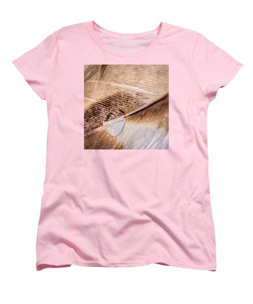 Women's T-Shirt (Standard Cut) featuring the photograph Droplet On A Quill by Rob Sellers