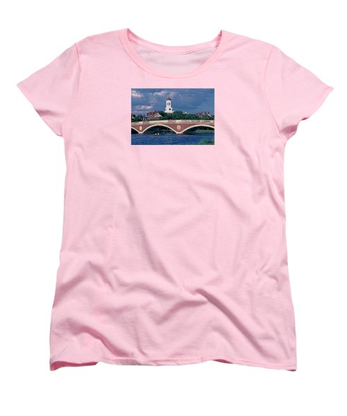 Weeks Bridge Charles River Women's T-Shirt (Standard Cut) by Tom Wurl