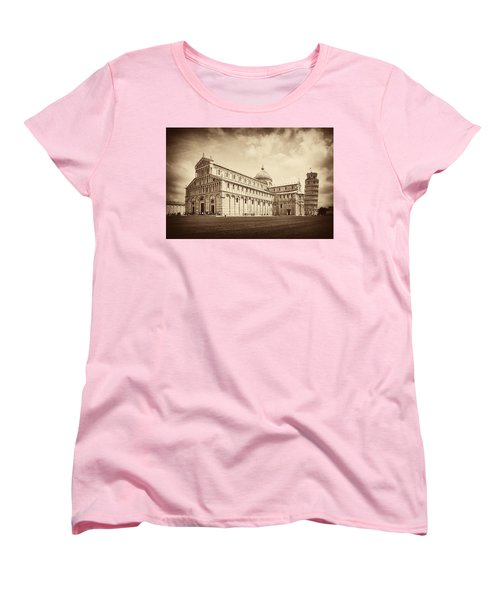 Women's T-Shirt (Standard Cut) featuring the photograph Duomo And Tower by Hugh Smith