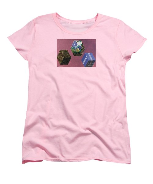 Women's T-Shirt (Standard Cut) featuring the painting Easter Cubes - Painting by Megan Dirsa-DuBois