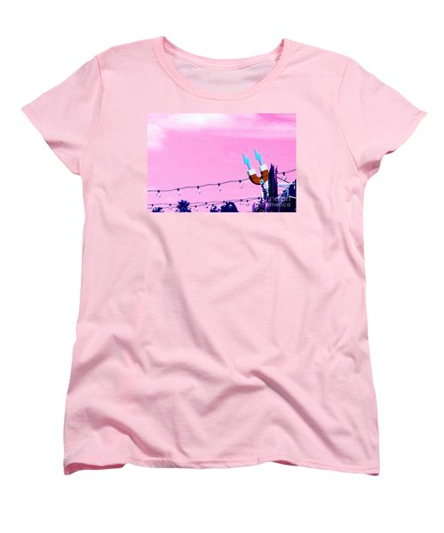 Electric Pink Women's T-Shirt (Standard Cut) by Valerie Reeves