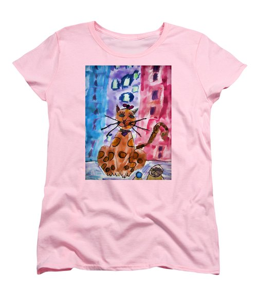 Emma's Spotted Kitty Women's T-Shirt (Standard Cut) by Alice Gipson