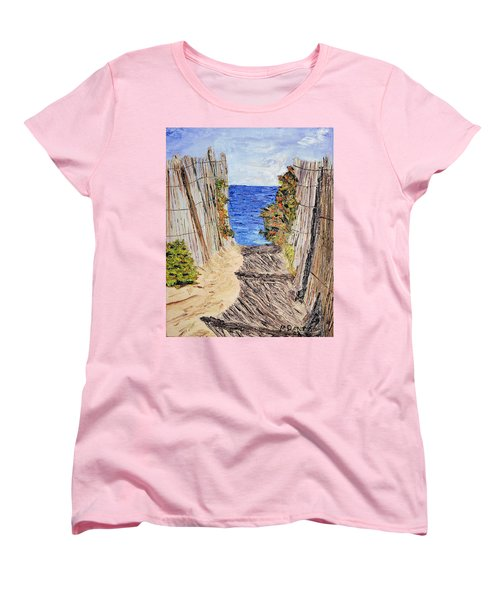 Women's T-Shirt (Standard Cut) featuring the painting Entrance To Summer by Michael Daniels