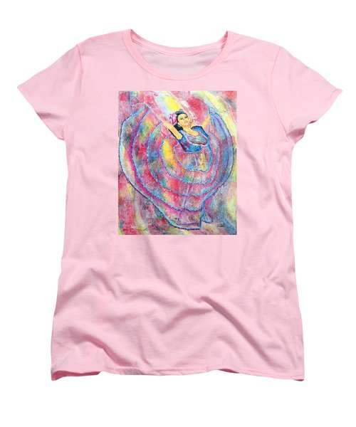 Expressing Her Passion Women's T-Shirt (Standard Cut) by Susan DeLain
