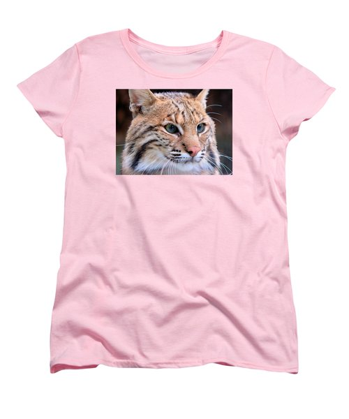 Eyes Of A Lynx Women's T-Shirt (Standard Cut) by Rosalie Scanlon