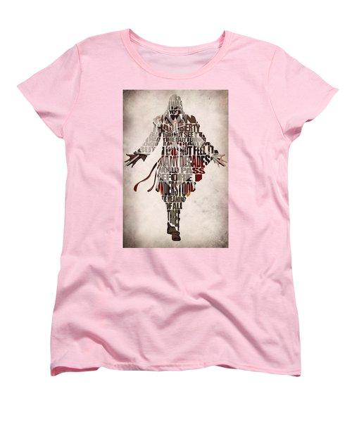 Ezio Auditore Da Firenze From Assassin's Creed 2  Women's T-Shirt (Standard Cut) by Ayse Deniz