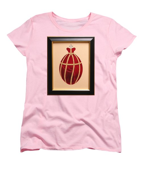Women's T-Shirt (Standard Cut) featuring the mixed media Faberge Egg 2 by Ron Davidson