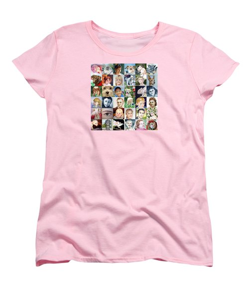Facebook Of Faces Women's T-Shirt (Standard Cut) by Irina Sztukowski
