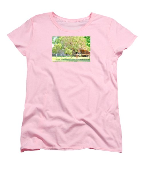 Women's T-Shirt (Standard Cut) featuring the photograph Farm Living by Marilyn Diaz