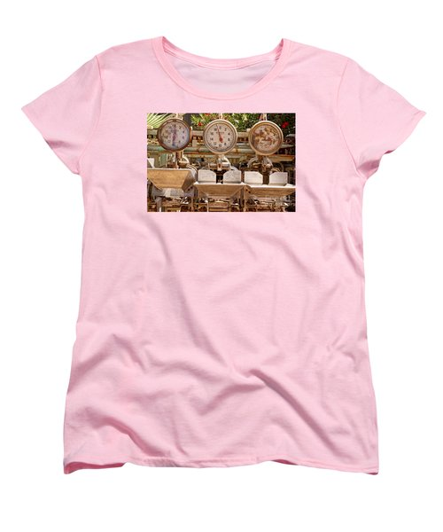 Women's T-Shirt (Standard Cut) featuring the photograph Farm Scales by Kerri Mortenson